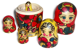 Russian Matryoshka dolls - A folksy example of recursion